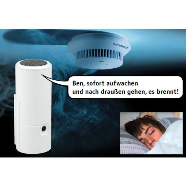 Akustischer Alarmdetektor für Rauchwarnmelder - mit Sprachausgabe