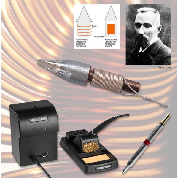 Thermaltronics Induktionslötstation: Erwärmung durch Induktion - Regeln mit Curie-Effekt