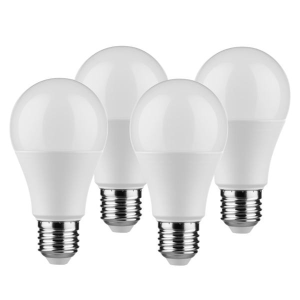 Müller Licht 4er Pack 9-W-LED-Lampen E27, warmweiß, 806 lm