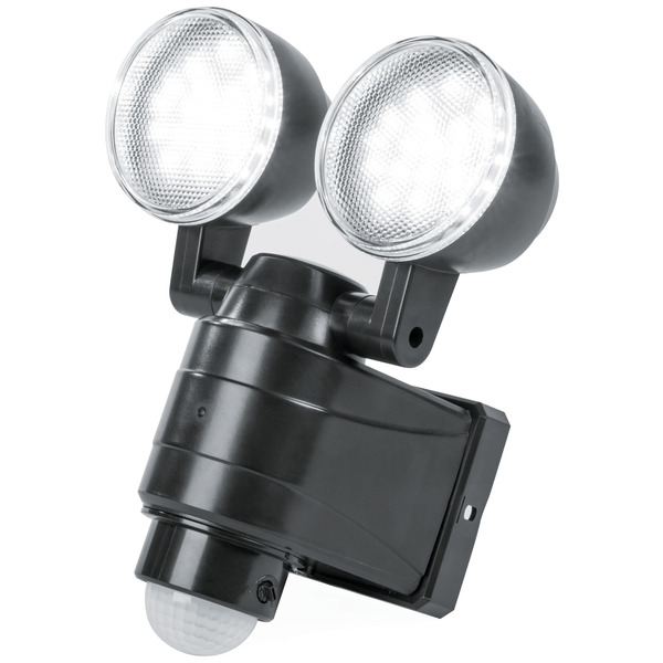 ELV Batterie-LED-Fluter mit 2 ausrichtbaren Spots, 600 lm, kaltweiß