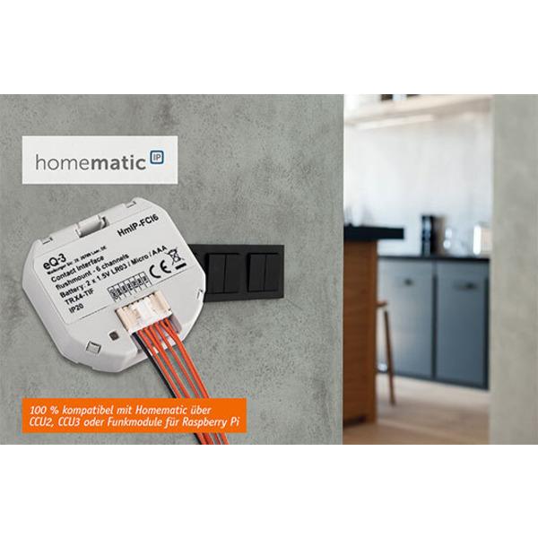 Ein Sender statt sechs - Homematic IP 6fach-Kontakt-Interface HmIP-FCI6