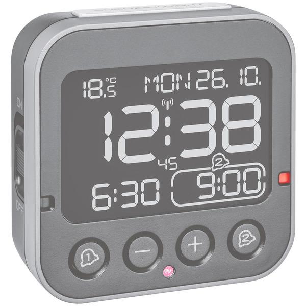 TFA Funk-Wecker Bingo 2.0, mit 2 einstellbaren Weckzeiten, Sensor für automatische Displaybeleuchtun