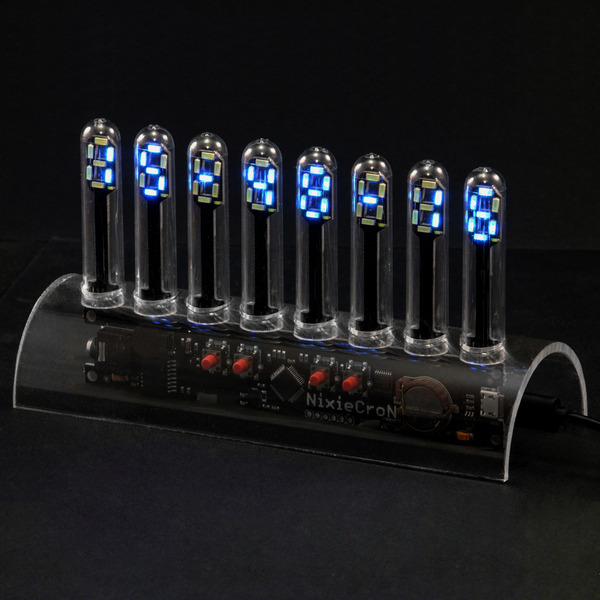 NixieCron LED-Tube-Uhr, programmierbarer Bausatz