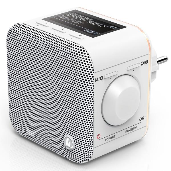 hama WiFi-Steckdosen-Radio IR40MBT-PlugIn, Internetradio, DLNA, Bluetooth, Multiroom, 3-W-RMS