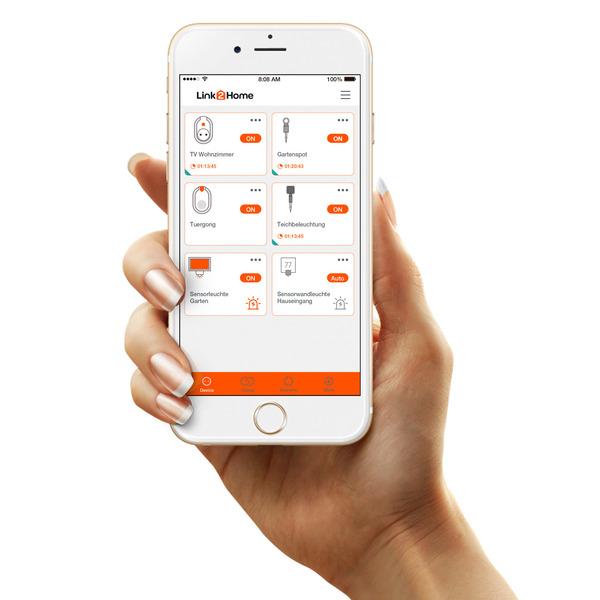 REV 2fach-Wifi-Außensteckdose, IP44, kostenlose App, Sprachsteuerung möglich