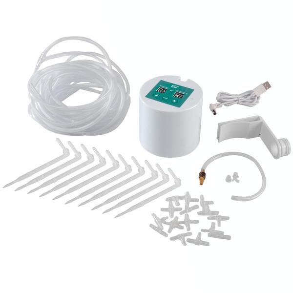 ELV Automatik-Bewässerungssystem mit 10 Tropfstellen, Batterie- und Netzbetrieb möglich