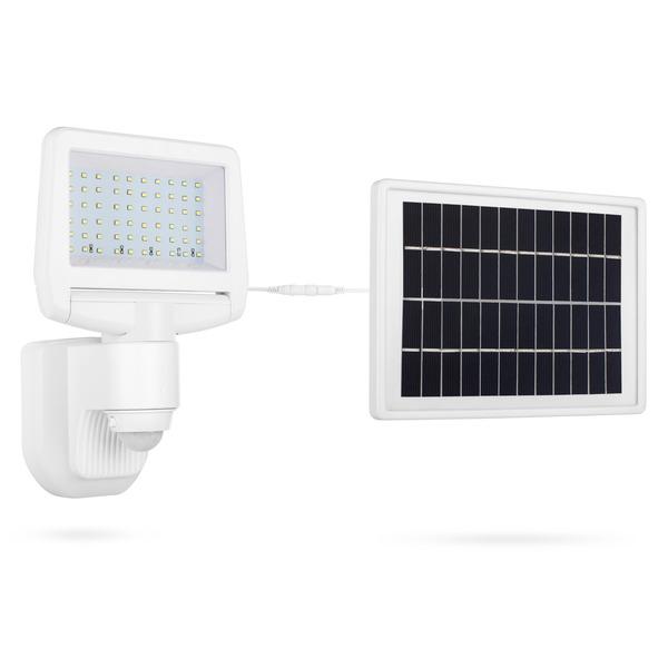 Smartwares Solar-LED-Flutlichtstrahler mit 140°-Bewegungsmelder, 1100 lm, neutralweiß