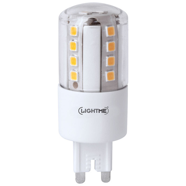 Lightme 4,5-W-G9-LED-Lampe, warmweiß, dimmbar, 510 lm