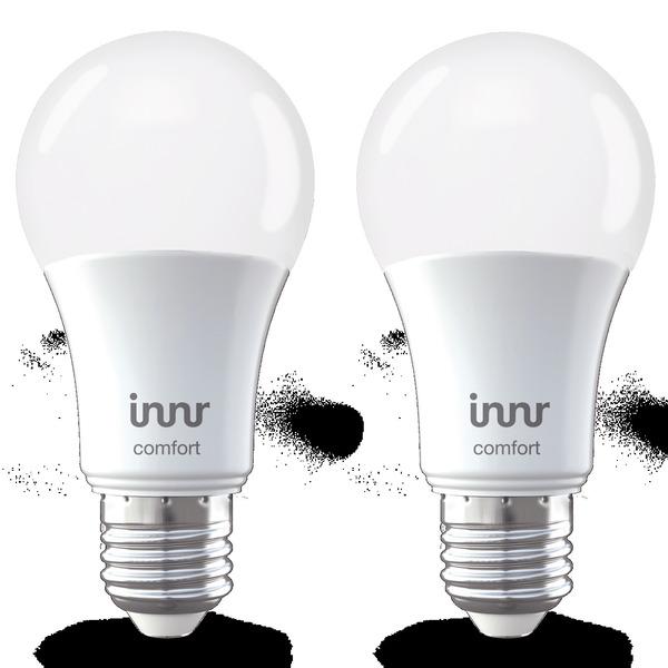 innr 2er Pack 9-W-LED-Lampe E27, kompatibel mit HUE, Echo Plus und Echo Show (2. Gen.)