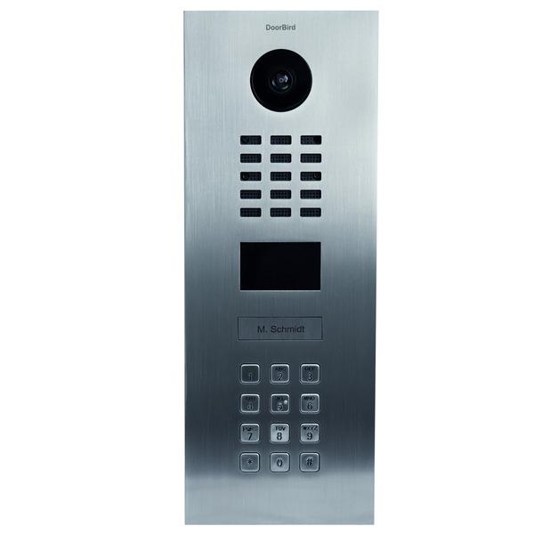 DoorBird LAN-Video-Türsprechanlage DV2101KV mit Tastenfeld, Unterputz-Version, gebürsteter Edelstahl