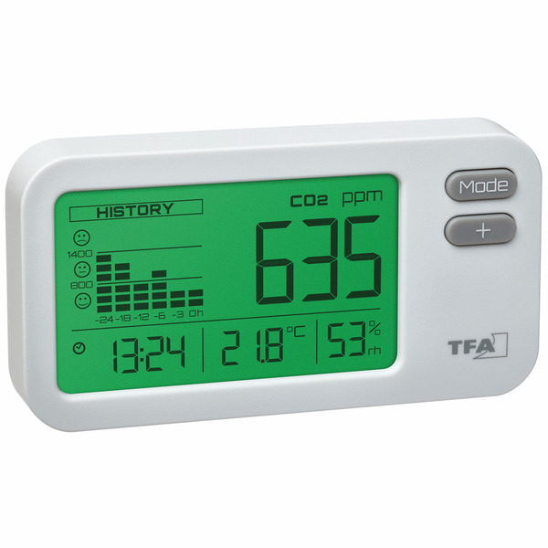 TFA CO2-Messgerät AirControl COACH, 24-h-Historie
