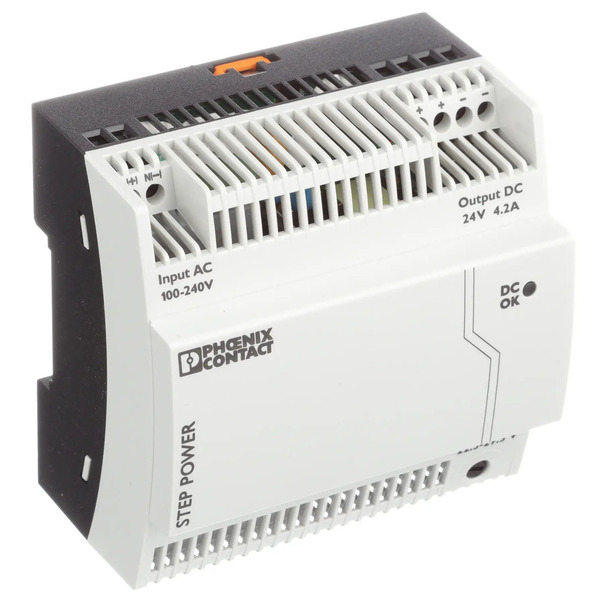 PHOENIX CONTACT 24-V-DC-Hutschienennetzteil STEP-PS/1AC/24DC/4.2, 4,2 A, 1-phasig