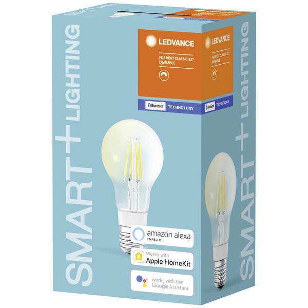 Ledvance SMART+ (Bluetooth) 5,5-W-Filament-LED-Lampe E27, kompatibel mit Apple HomeKit und SMART+ An