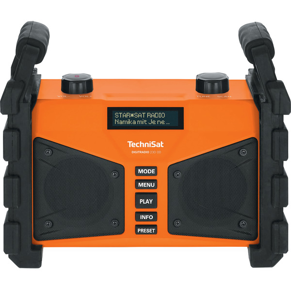 TechniSat Baustellenradio DigitRadio 230 OD, DAB+/UKW, Bluetooth, USB, 12-W-RMS, Akku, IP67