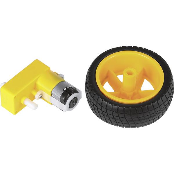 JOY-iT Getriebemotor Com-Motor04 mit Rad, ca. 190 min-1 bei 6 V
