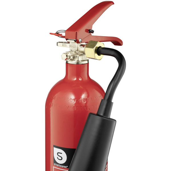 Smartwares CO2-Feuerlöscher CB2, Brandklasse B, 2 kg