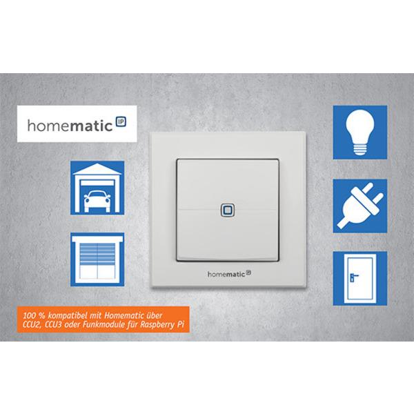Anpassungsfähig - Homematic IP 2-Kanal-Funk-Wandtaster HmIP-WRC2