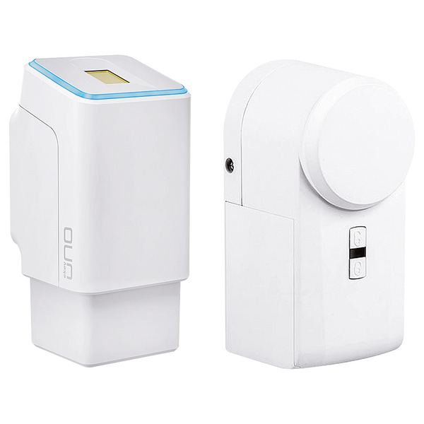 ekey uno Funk-Fingerabdruckscanner mit Akkubetrieb - inkl. Eqiva Bluetooth Smart Türschlossantrieb