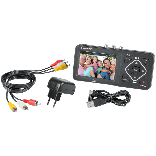 "dnt Video-Digitalisierer Grabstar AV, 8,9 cm (3,5"") Vorschaudisplay, S-Video, speichert auf USB/ SD"