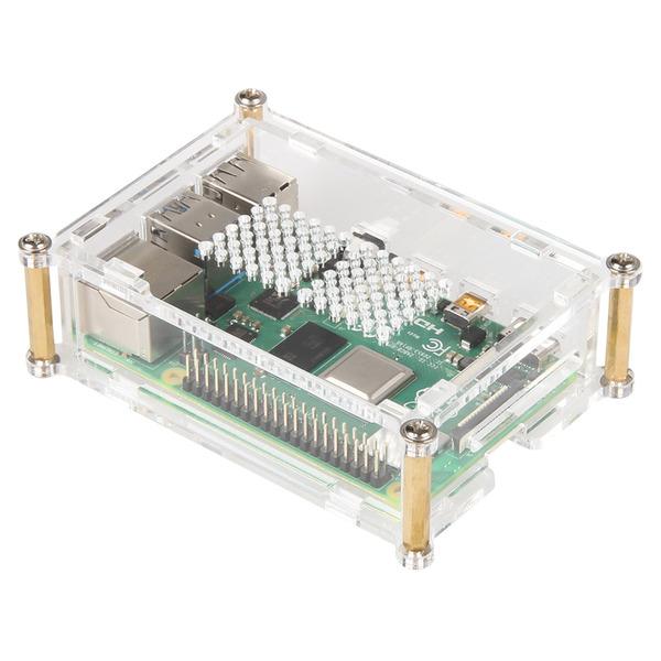 JOY-iT Acryl Gehäuse für Raspberry Pi 4 mit Metallschrauben