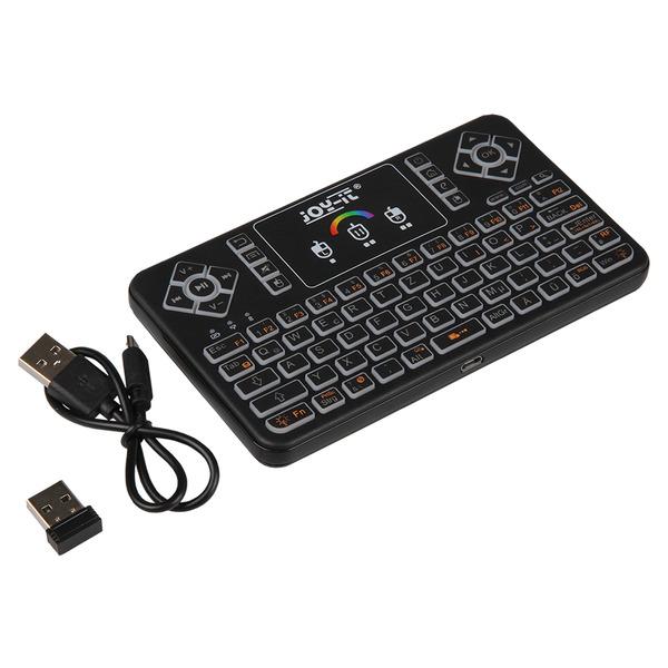 JOY-iT Mini Wireless-Tastatur mit Maus-Touchpad und RGB-Beleuchtung, 2,4 GHz, QWERTZ