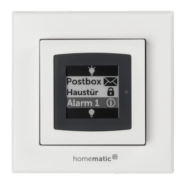 ELV Homematic IP Wandtaster mit ePaper-Statusdisplay HmIP-WRCD, Bausatz