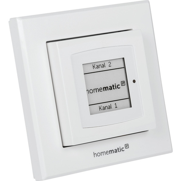 ELV Homematic IP Komplettbausatz Wandtaster mit E-Paper-Statusdisplay HmIP-WRCD