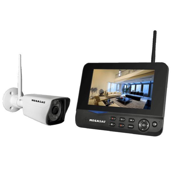 Megasat WiFi-Kamerasystem HS 130 mit Überwachungsmonitor, App, 1080p, IP55 - aufrüstbar auf bis zu 4