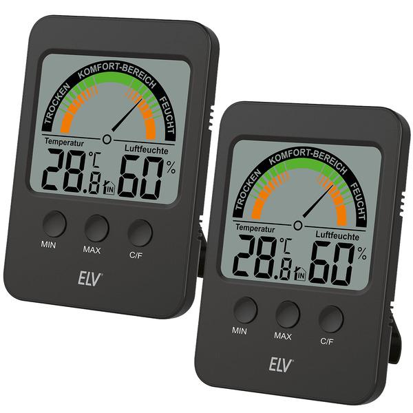2er-Spar-Set - ELV Klimakomfortanzeige KA100