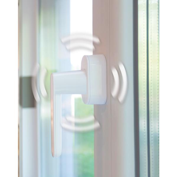 Schellenberg Sicherheits-Alarmgriff, für Fenster, Balkon- und Terrassentüren, Vierkantlänge 43 mm