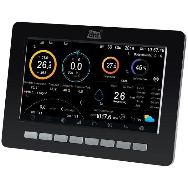 "dnt WiFi-Wetterstation WeatherScreen PRO, 17,8-cm-TFT-Farbdisplay (7""), inkl. Funk-Außensensor"