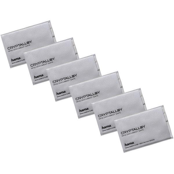 6er-Spar-Set hama RFID-/NFC-Schutzhüllen für EC-, Kredit-, Zutrittskarten und Personalausweis