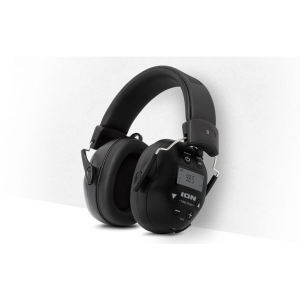 ION Audio Kapselgehörschutz-Kopfhörer ToughSounds 2, Bluetooth, Radio, Akku, 27 dB NNR Dämpfung