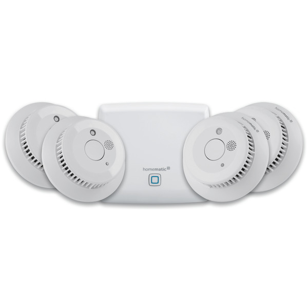 Homematic IP Set 4x Rauchwarnmelder inkl. Homematic IP Access Point