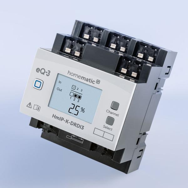 Licht zentral gesteuert - Homematic IP Dimmaktor HmIP-K-DRDI3