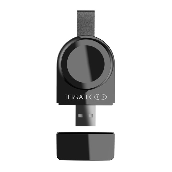 TerraTec Kabellose Ladestation ChargeAIR Watch, USB-Ladespot für Apple Watch Series 1, 2, 3, 4 & 5