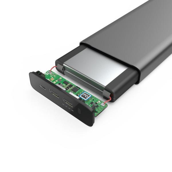 HamaUniversal-Zusatz-Akku USB-C-Power-Pack, 26.800 mAh, Power Delivery (PD), 5-20 V/60 W