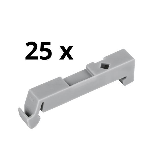 Wago Montageadapter für die Hutschiene (25er Pack), als Endklammer verwendbar, 6,5 mm breit