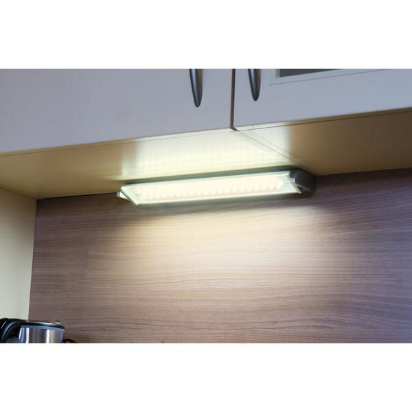 Heitronic Schwenkbare LED-Unterbauleuchte MIAMI, 15 W, 980 lm, warmweiß, 91 cm