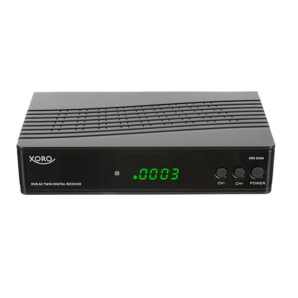 Xoro TWIN-Satelliten-Receiver HRS 9194, mit USB-Aufnahmefunktion und Timeshift, 1080p