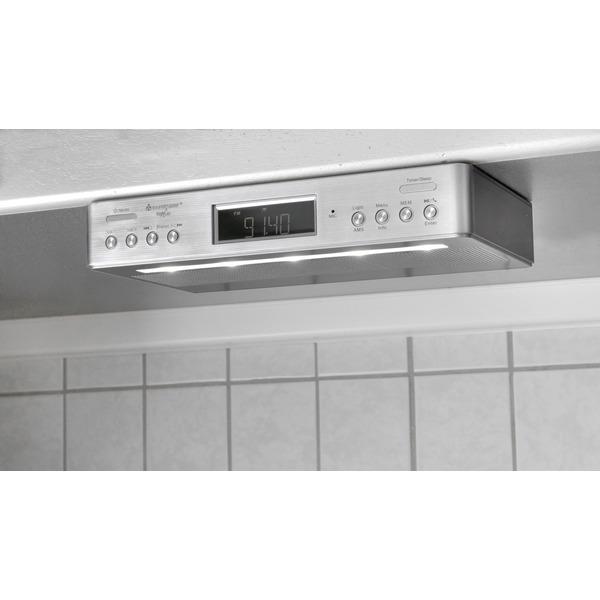 Soundmaster Küchen-/Unterbauradio UR2045 SI, UKW/DAB+, mit Bluetooth-Funktion und Küchentimer