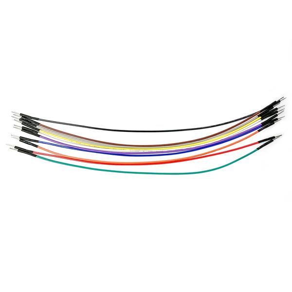 ELV hochwertiges Steckkabel Set, Stecker auf Stecker, 10 Stück in 10 verschiedenen Farben, 200 mm