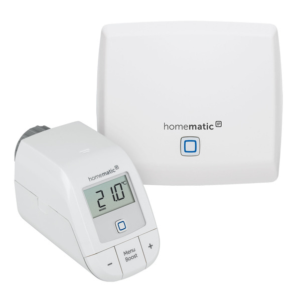 Homematic IP Starter Set Heizen Basic, mit Access Point und Heizkörperthermostat basic