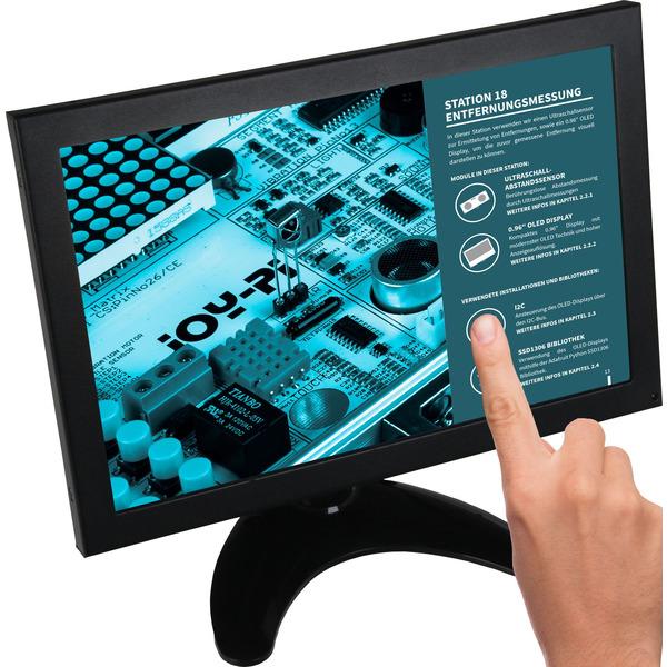 """JOY-IT Touchscreen-Monitor RB-LCD-10-2, 10,1""""-IPS-Display, Metallgehäuse - geeignet für Raspberry Pi"""