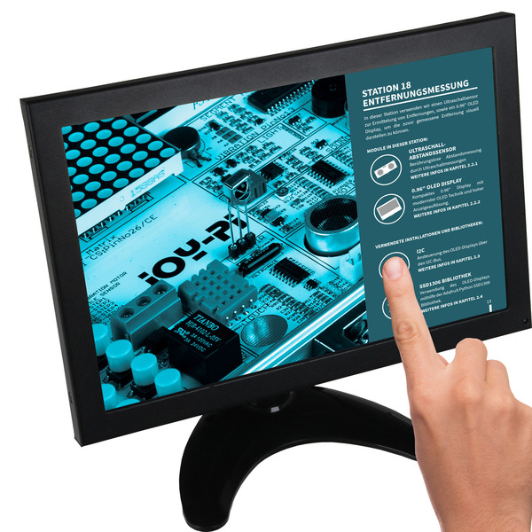 "JOY-IT Touchscreen-Monitor RB-LCD-10-2, 10,1""-IPS-Display, Metallgehäuse, geeignet für Raspberry Pi"