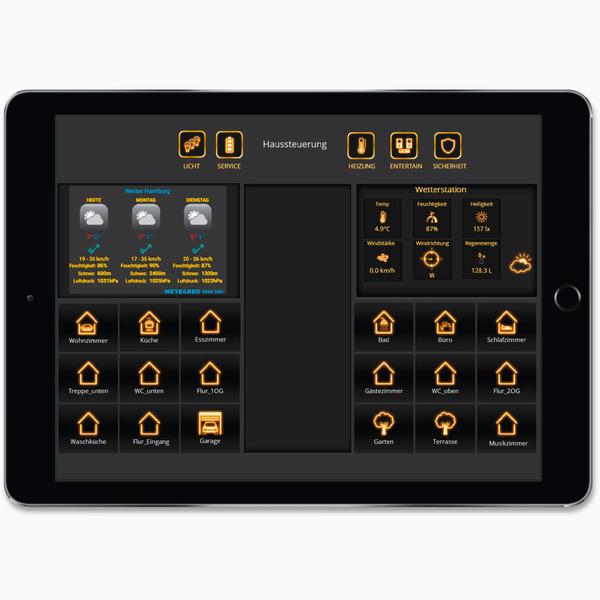 Schickes Smart Home - Visualisierung mit AIO CREATOR NEO und Smart Home Zentrale CCU3