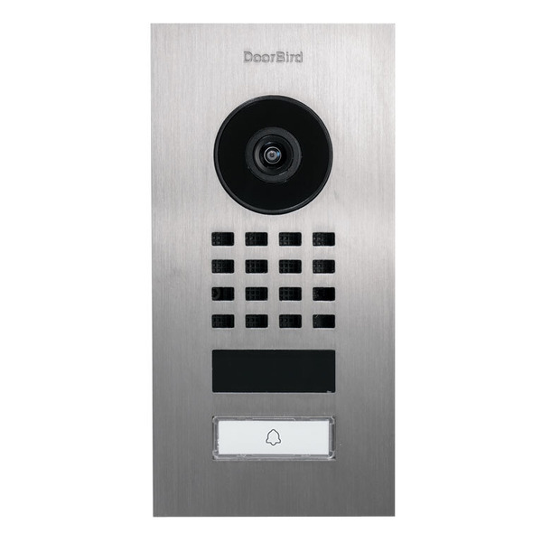 Doorbird WLAN-IP-Türsprechanlage D1101V, Edelstahl V2A, Unterputz