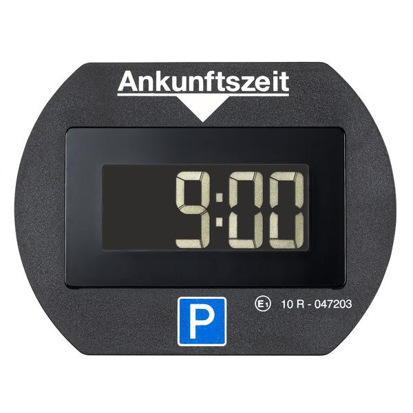 Elektronische Parkscheibe bzw. digitale Parkuhr PARK LITE, automatische Parkzeiteinstellung, schwarz