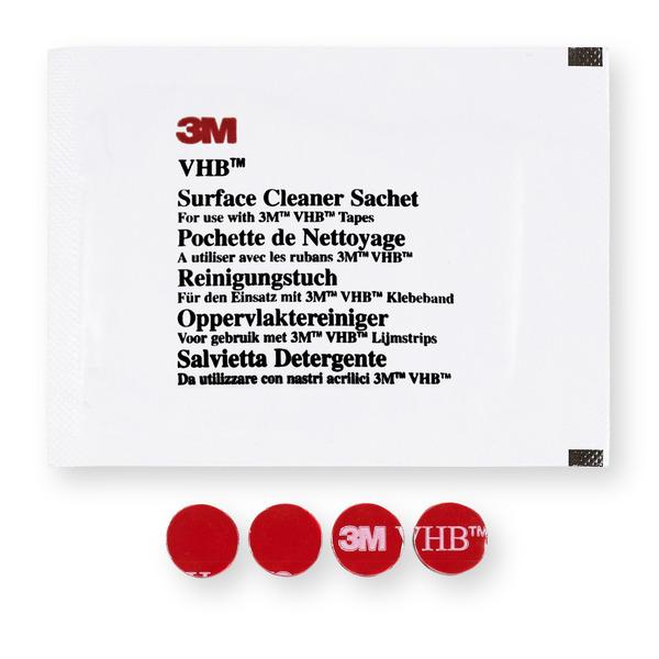 Ersatz-/Zubehör-Klebepads für elektronische Parkscheibe PARK LITE, 4 Stück, inkl. Reinigungstuch