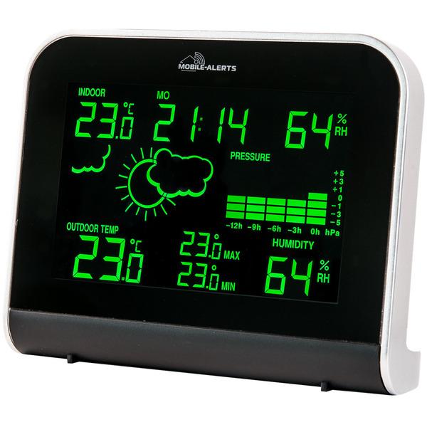 Mobile Alerts RGB-Wetterstation MA10920 inkl. Außensensor, kompatibel mit Mobile Alerts System